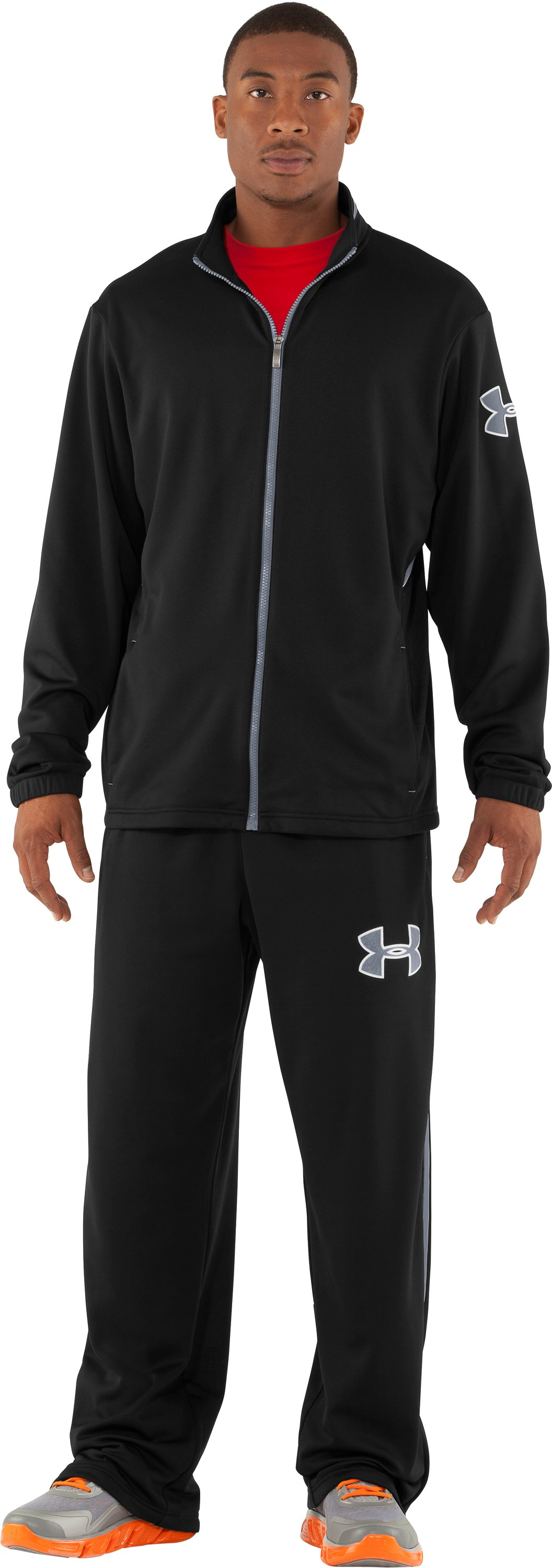 Men's UA Offseason Warm-Up Pants, Black , zoomed image