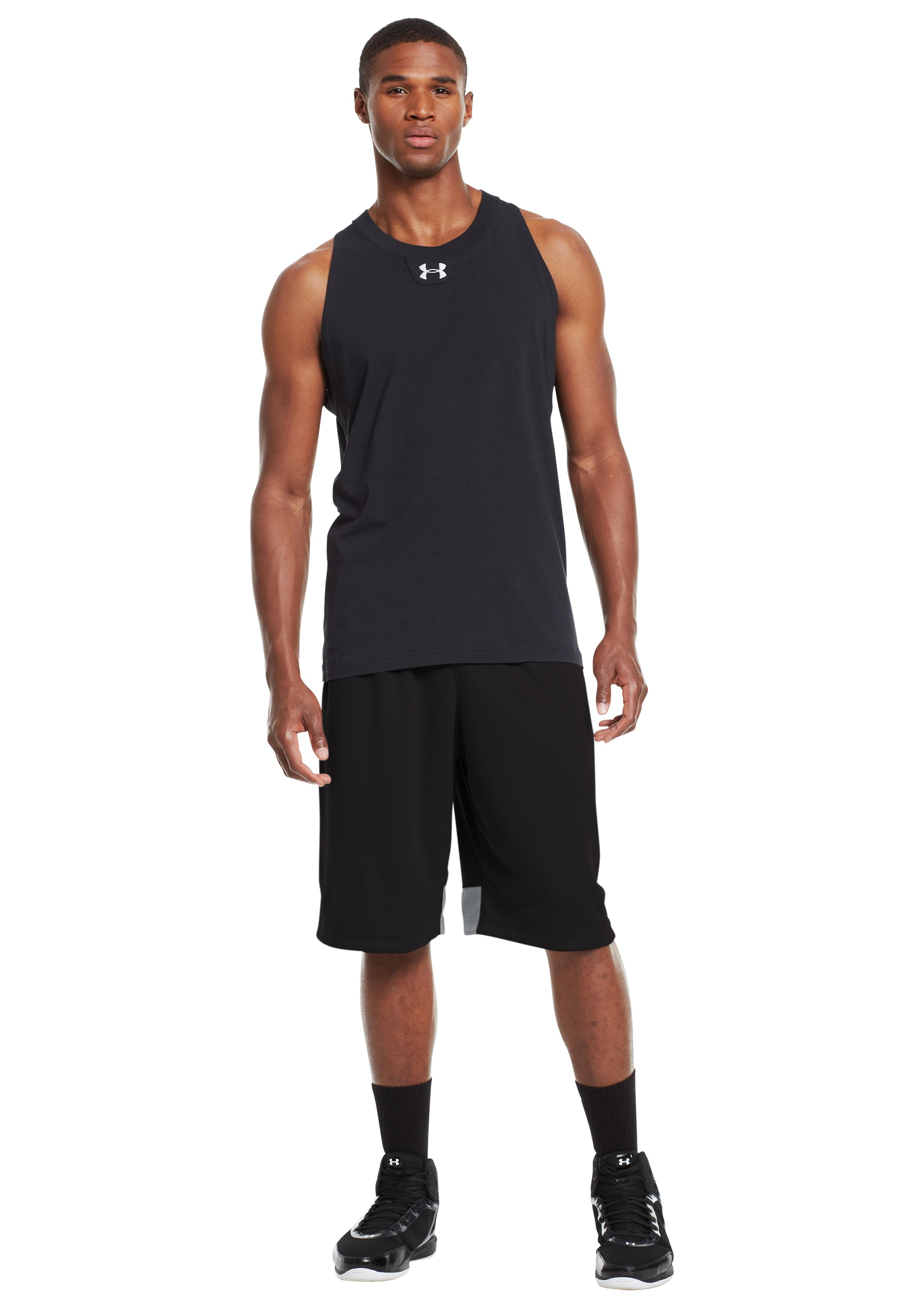"Men's UA Hova 12"" Shorts, Black , Front"