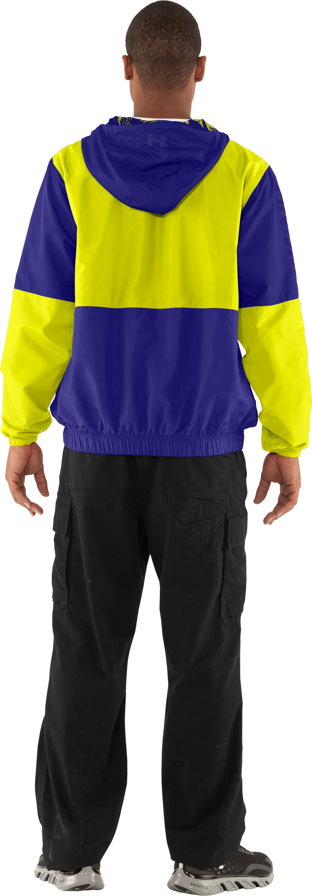 Men's UA Acoustic Windbreaker, Caspian, Back