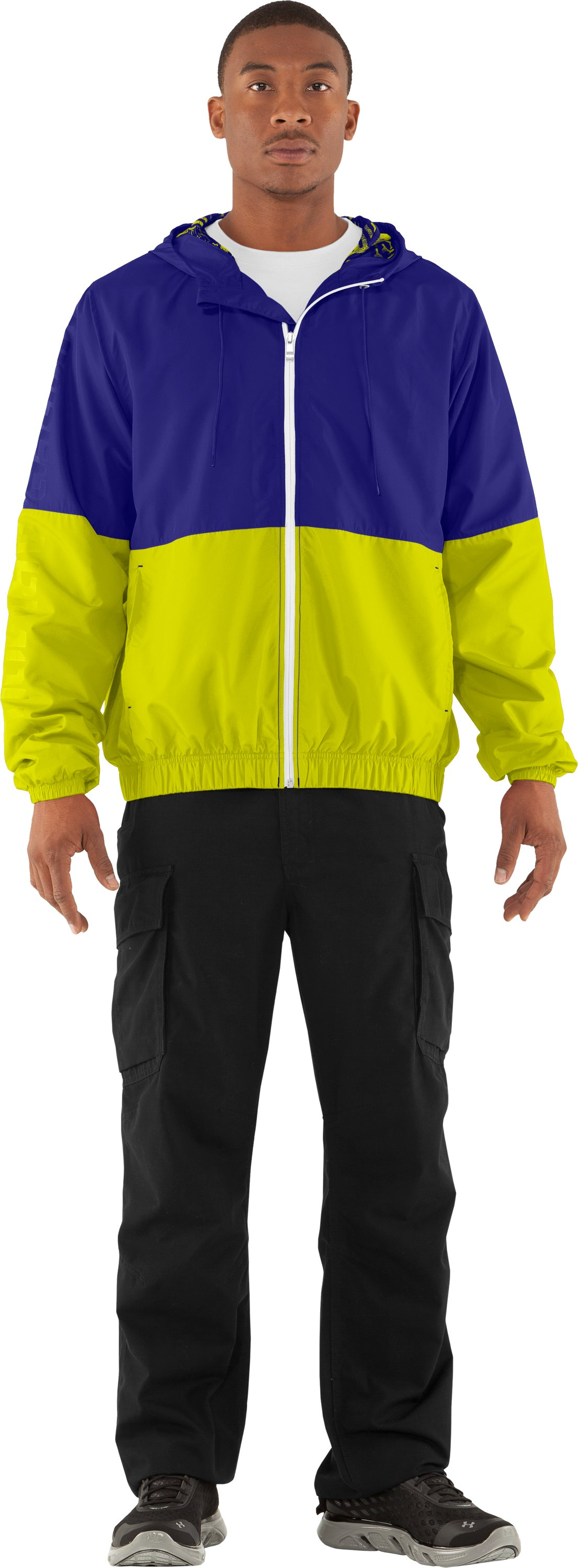 Men's UA Acoustic Windbreaker, Caspian