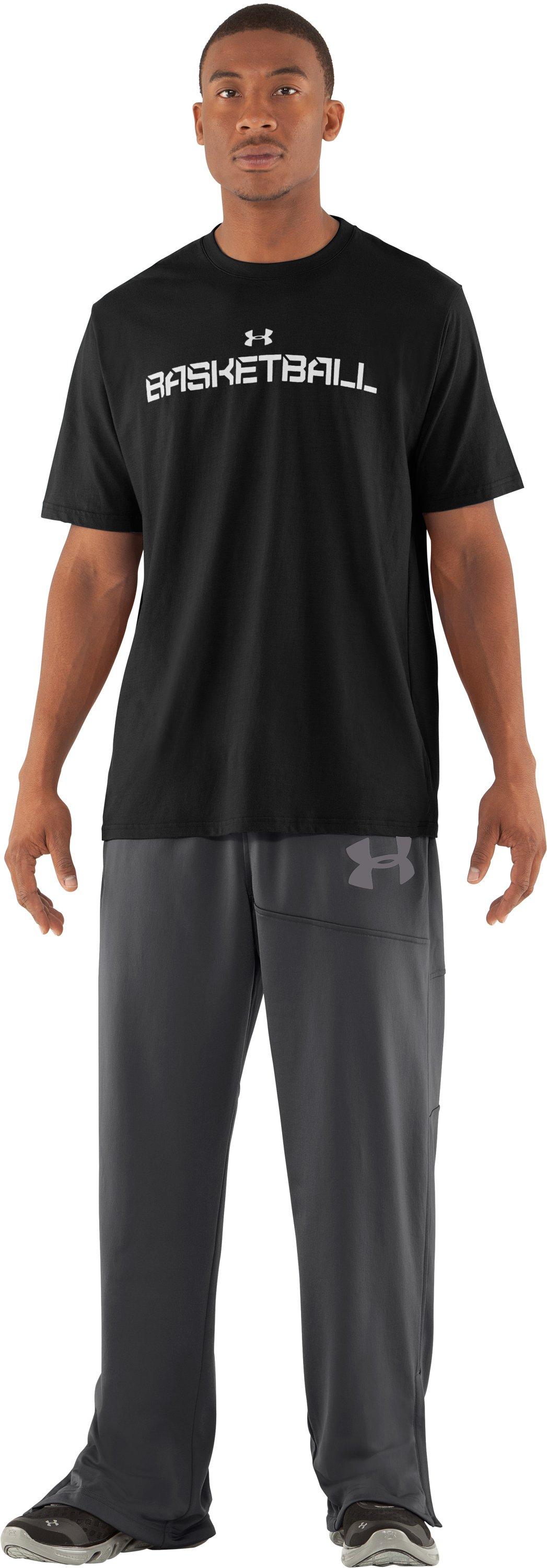 Men's UA Deuces Warm-Up Pants, Graphite, Front