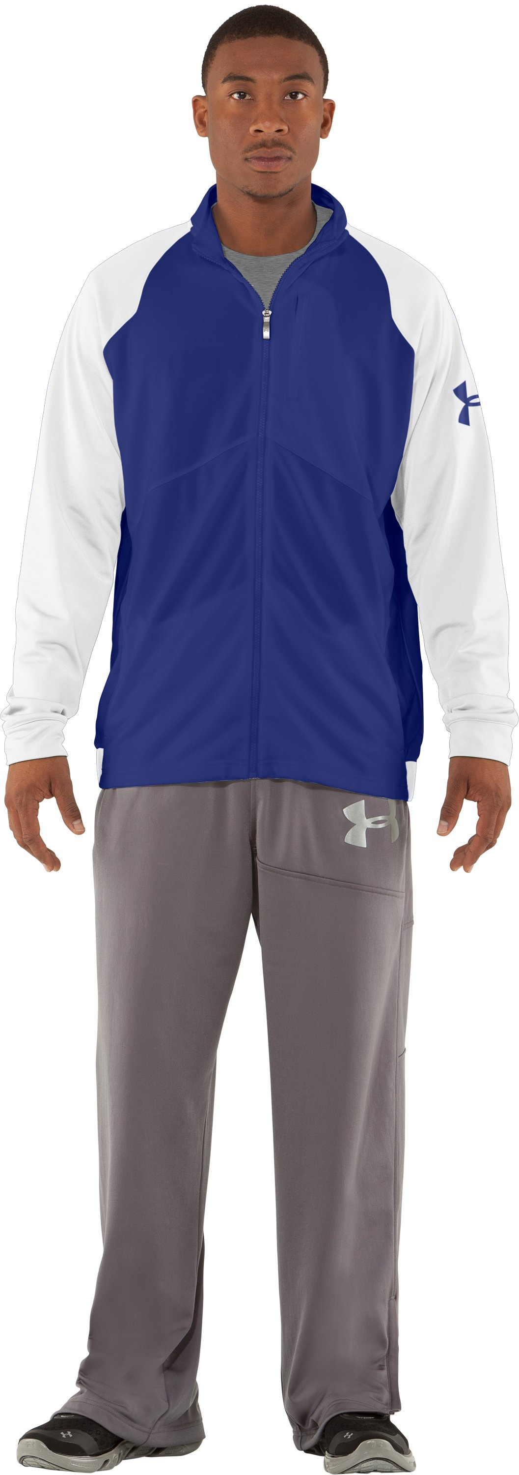 Men's UA Deuces Warm-Up Jacket, Royal, zoomed image
