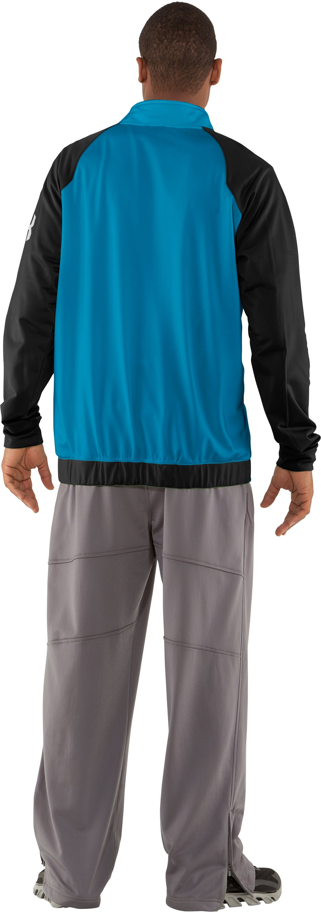 Men's UA Deuces Warm-Up Jacket, SNORKEL, Back