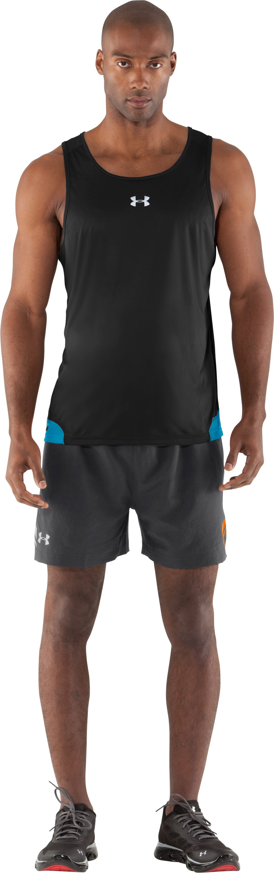 "Men's UA Escape 5"" Woven Shorts, Graphite, Front"