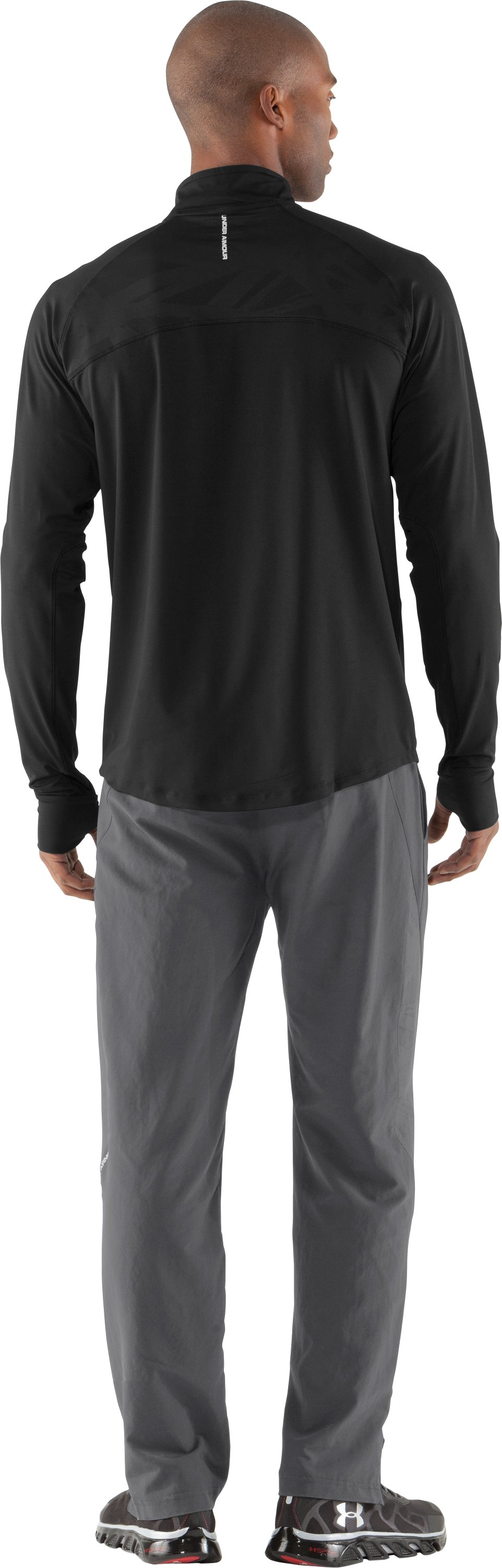 Men's UA Imminent Run ¼ Zip, Black , Back