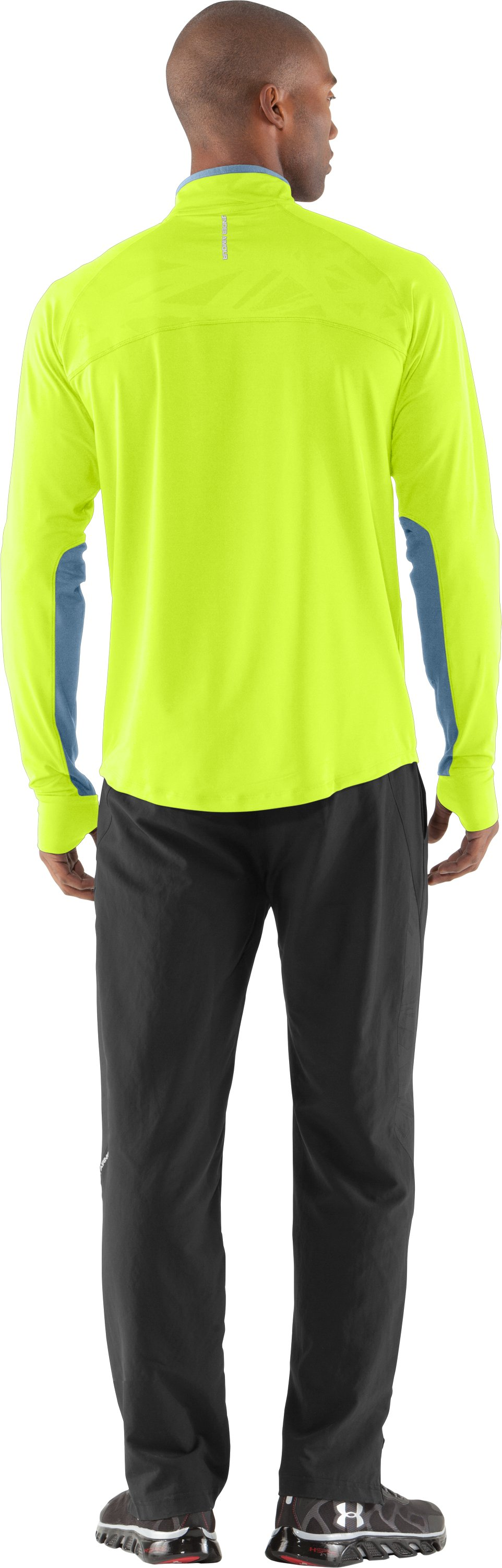 Men's UA Imminent Run ¼ Zip, High-Vis Yellow, Back