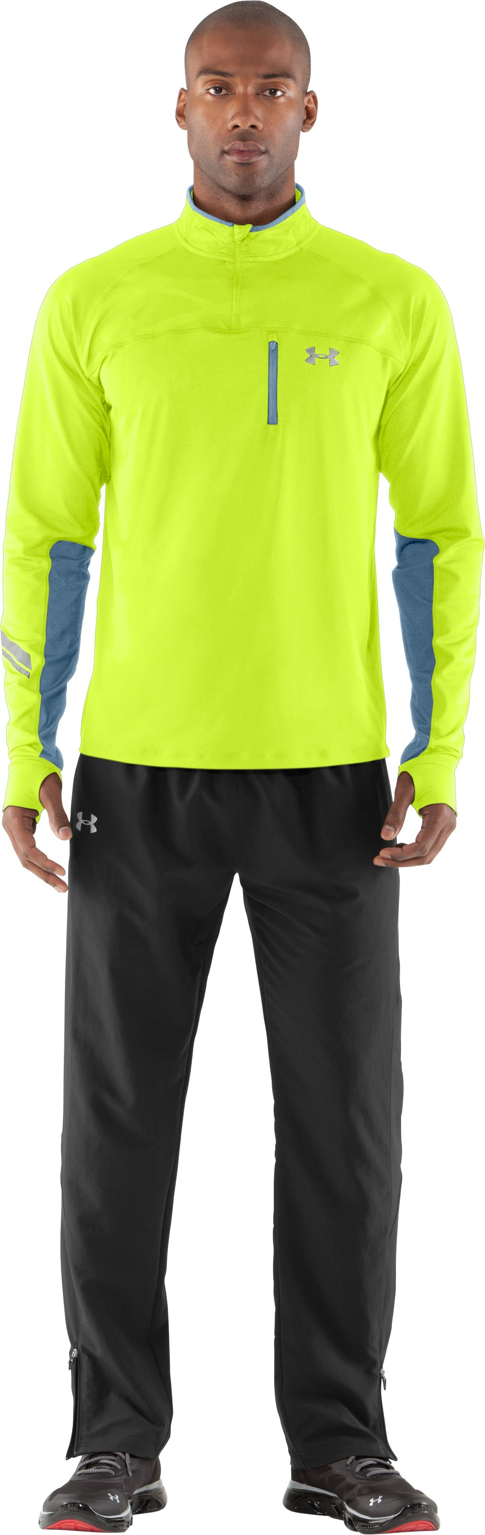 Men's UA Imminent Run ¼ Zip, High-Vis Yellow, Front