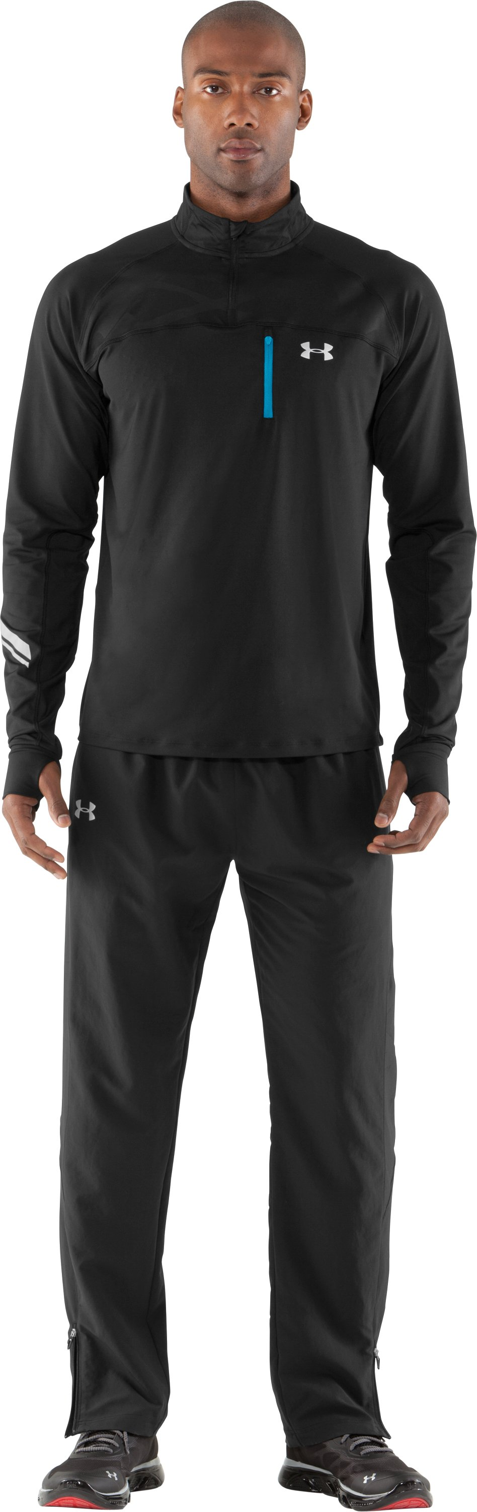 Men's UA Imminent Run Pants, Black , Front
