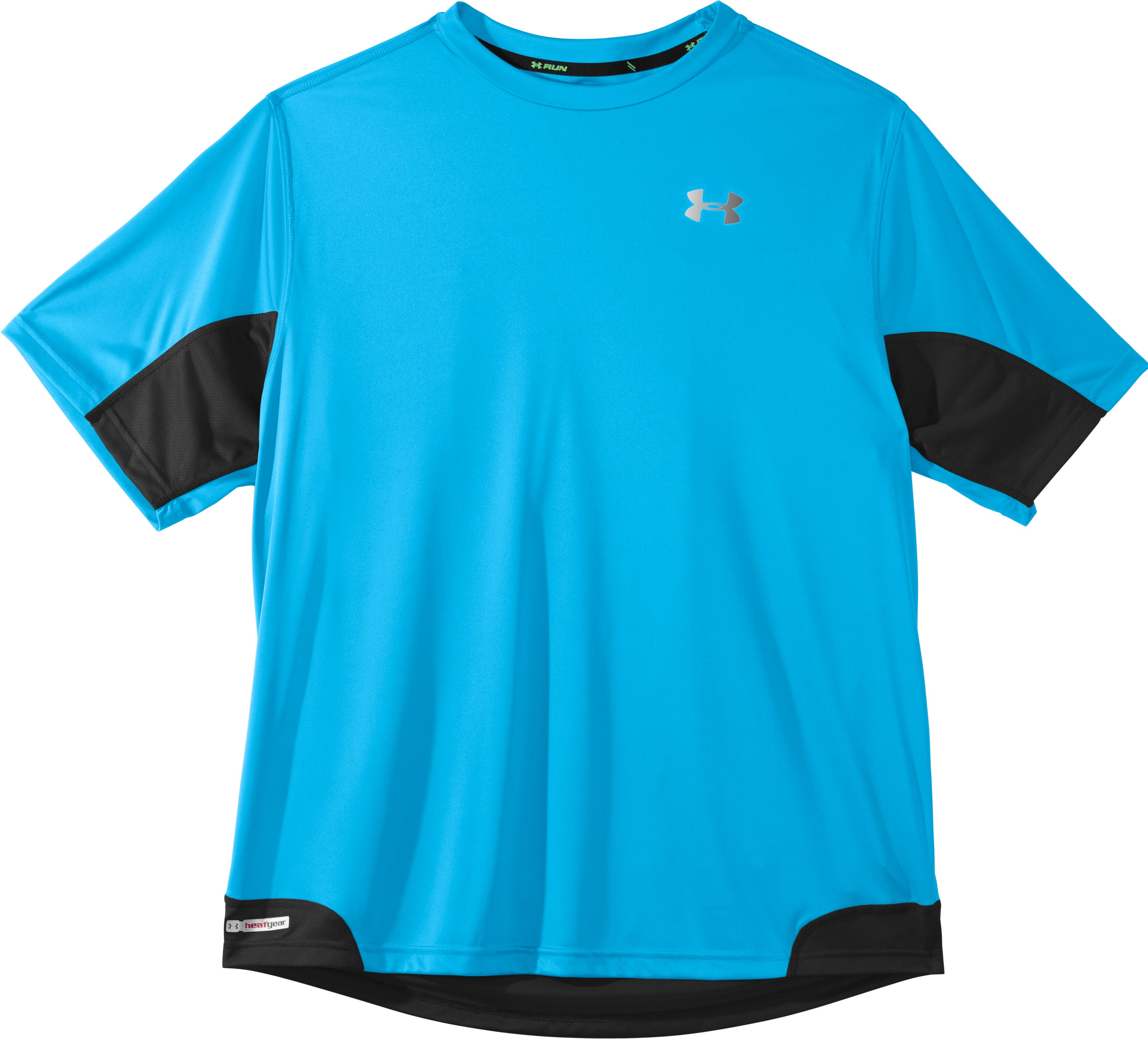 Men's HeatGear® Flyweight Run Short Sleeve, Cortez, Laydown