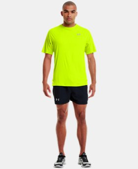 Men's HeatGear® Flyweight Run Short Sleeve  1 Color $20.99