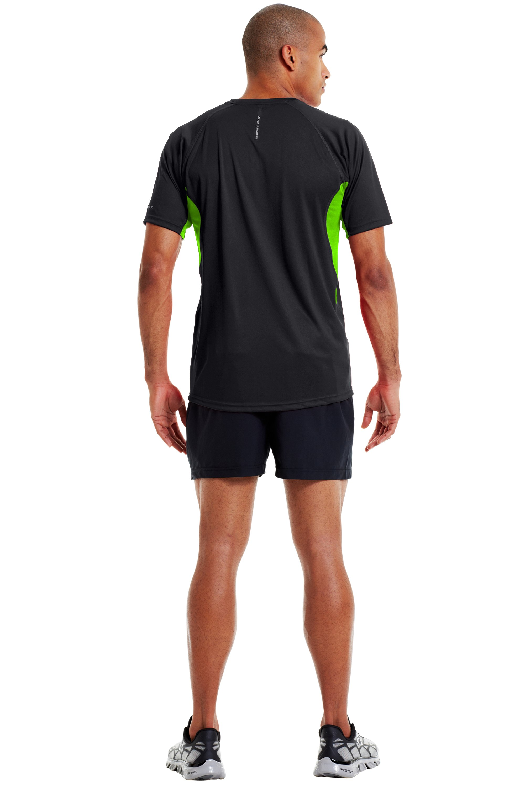 Men's coldblack® Engage Run T-Shirt, Black , Back