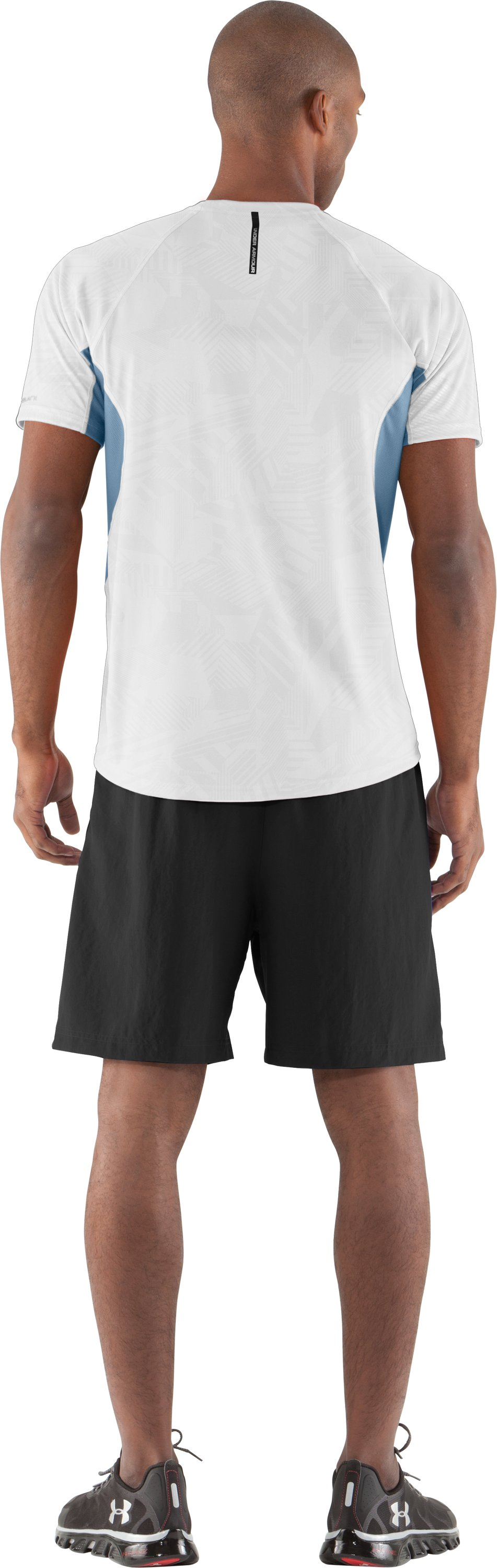 Men's coldblack® Engage Run T-Shirt, White, Back