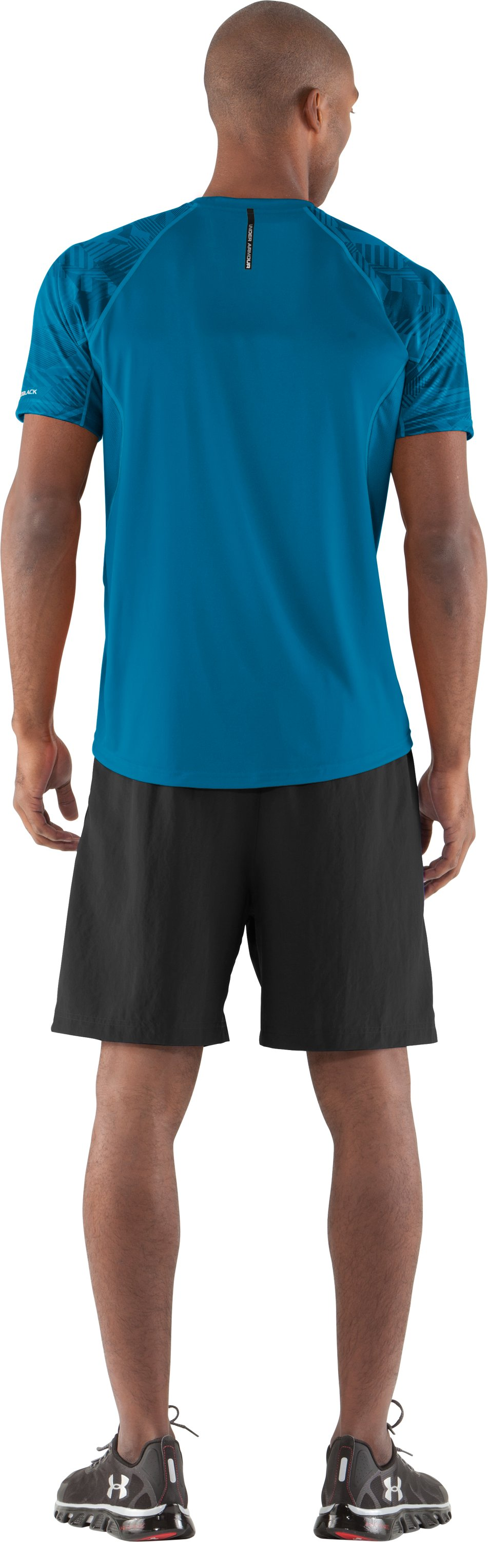 Men's coldblack® Engage Run T-Shirt, SNORKEL, Back