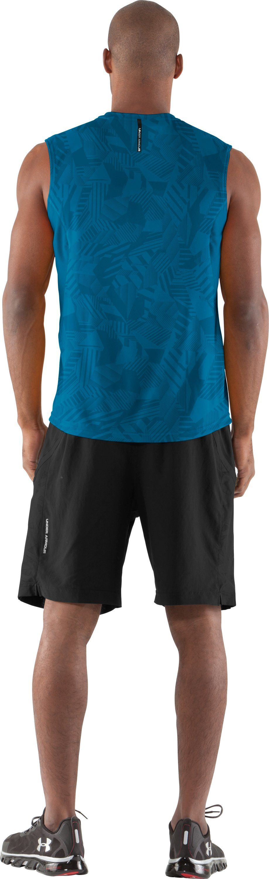 Men's coldblack® Engage Run Sleeveless T-Shirt, SNORKEL, Back