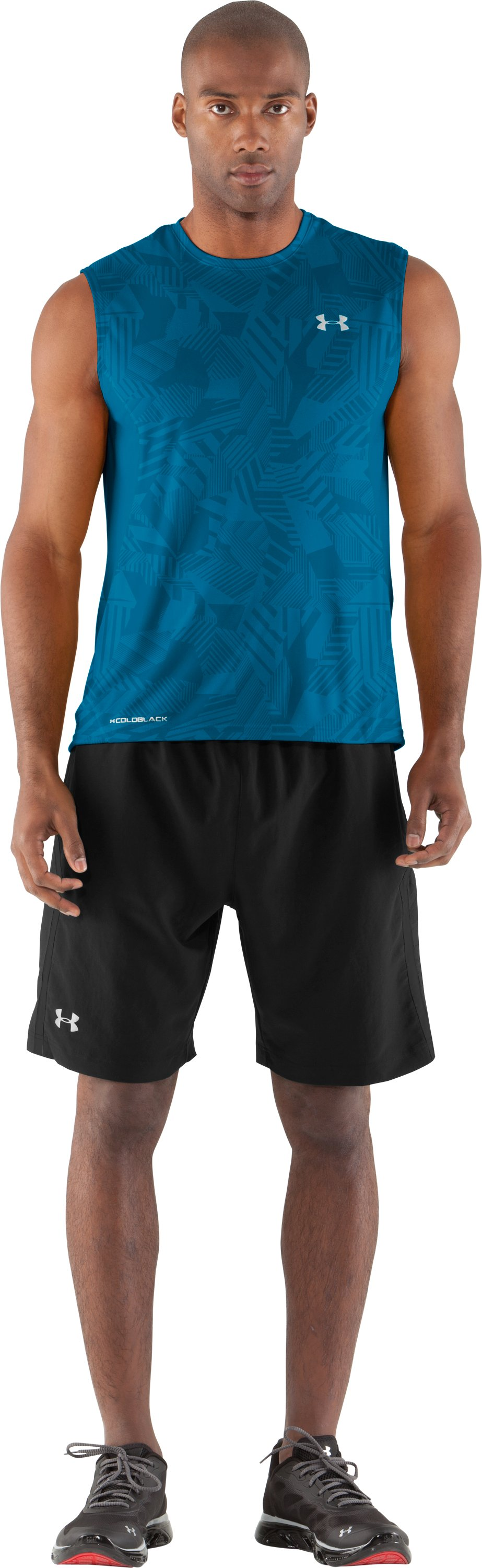 Men's coldblack® Engage Run Sleeveless T-Shirt, SNORKEL