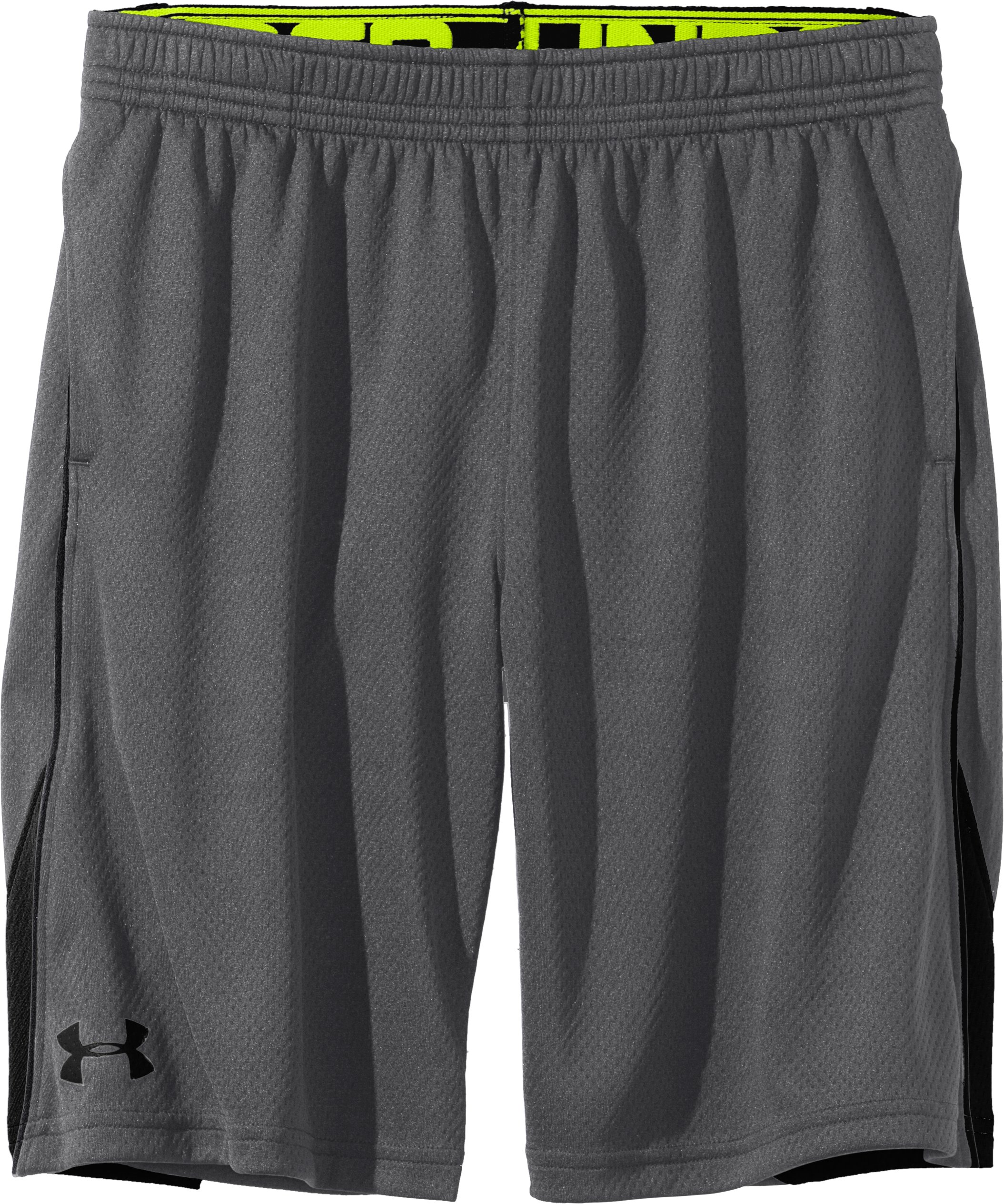 Boys' UA Catalyst Shorts, Graphite, Laydown