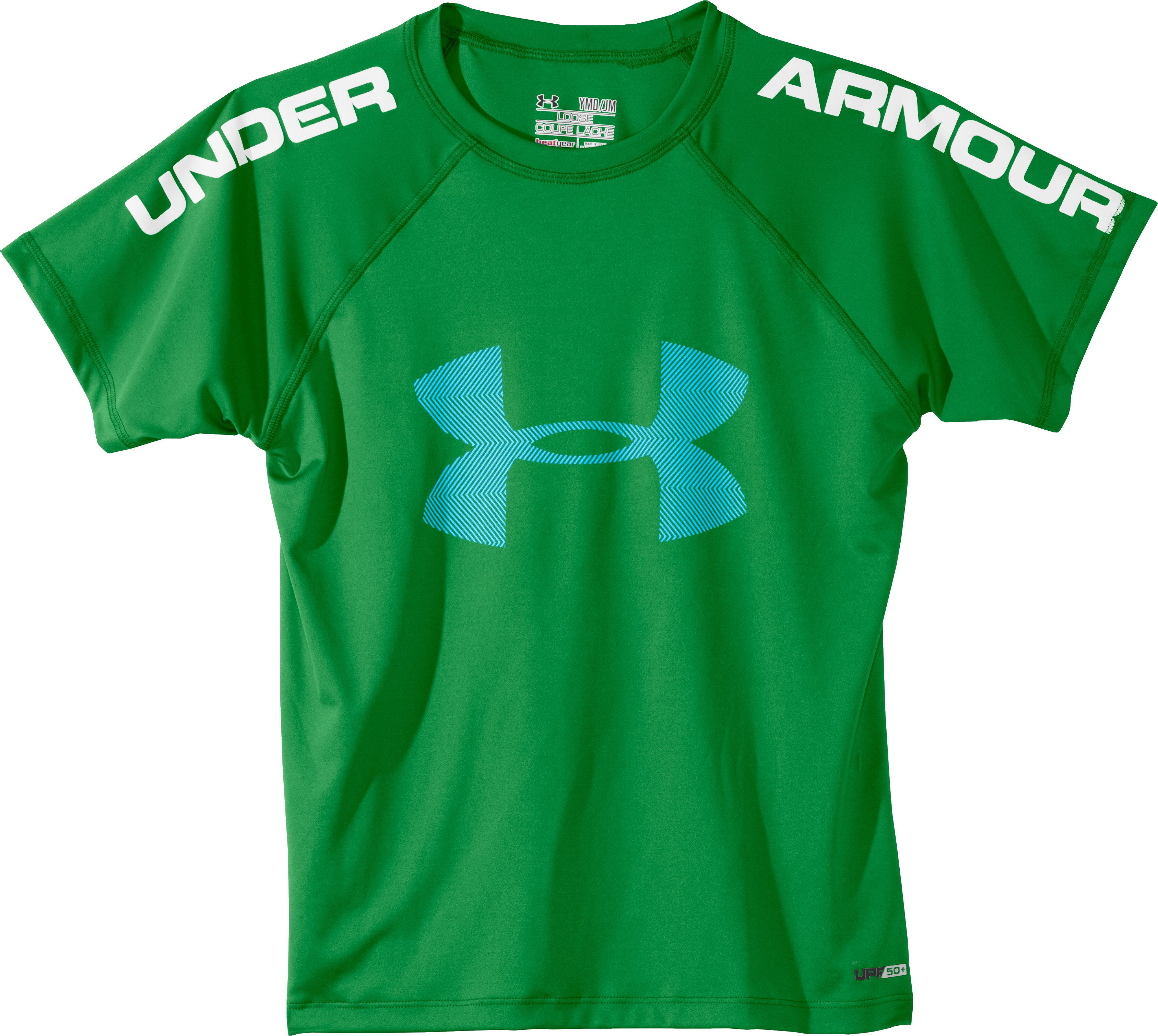 Boys' UA Ripping Sun-Activated Short Sleeve, Feisty