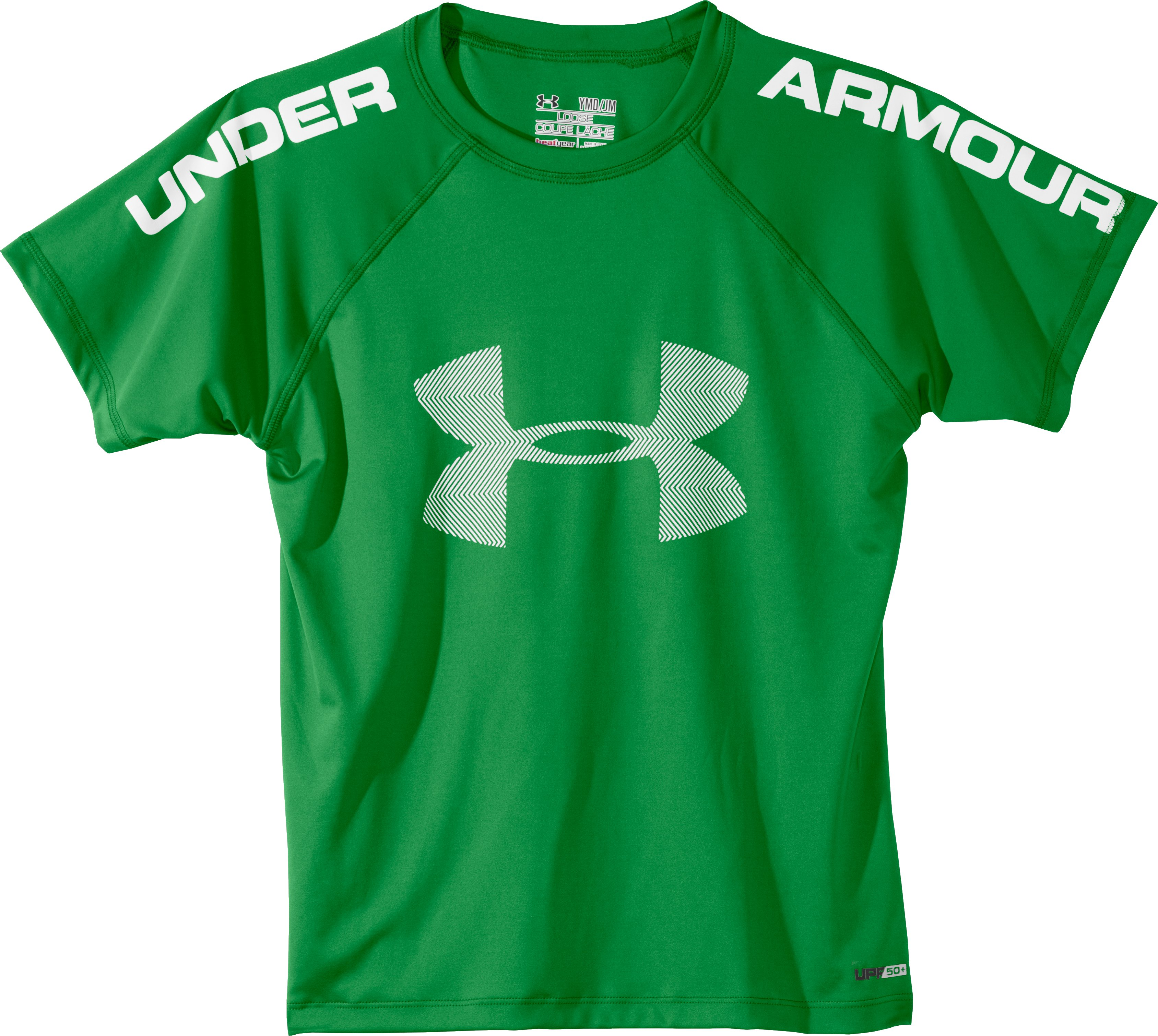 Boys' UA Ripping Sun-Activated Short Sleeve, Feisty, Laydown