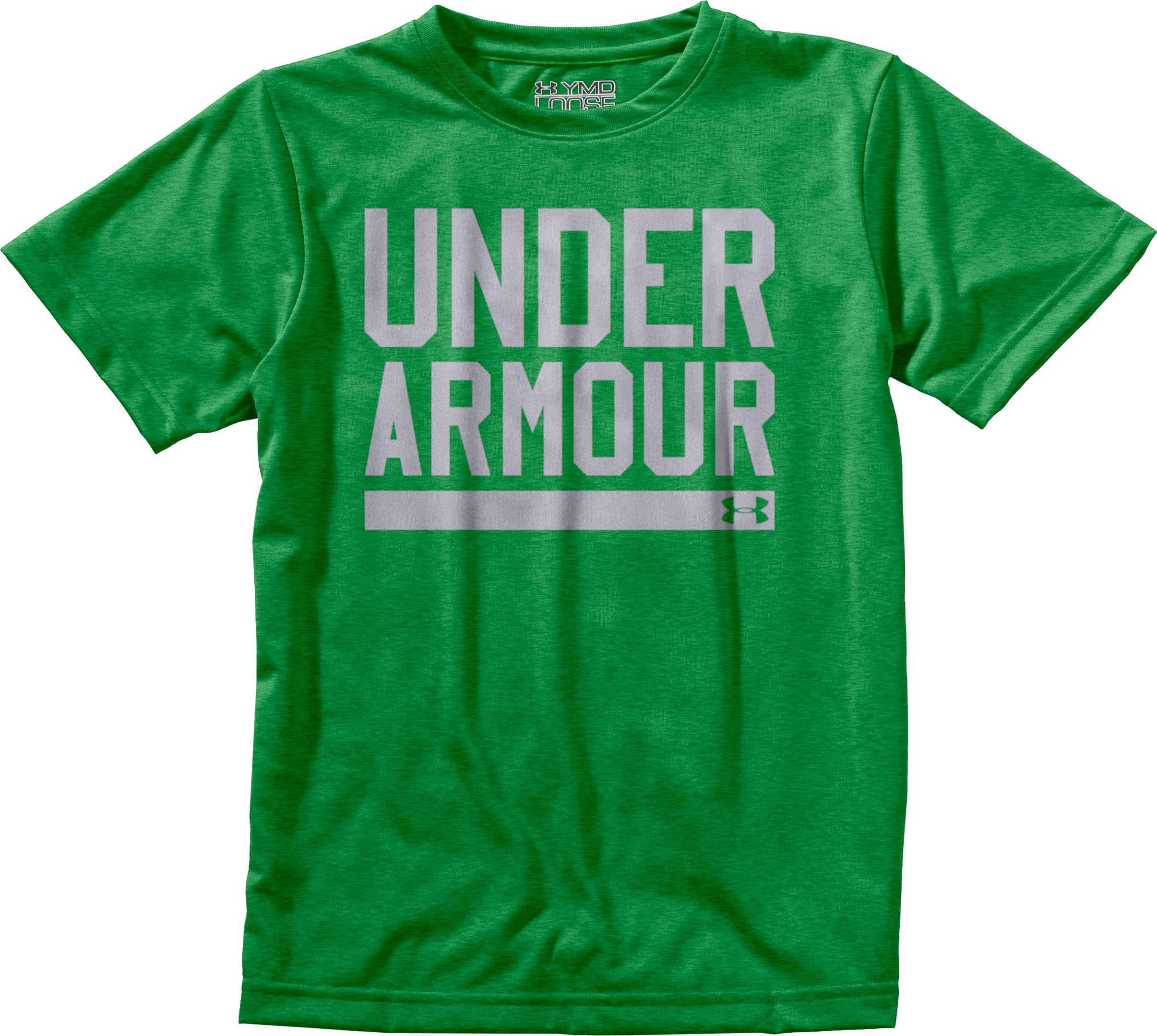 Boys' UA Script T-Shirt, Feisty, Laydown