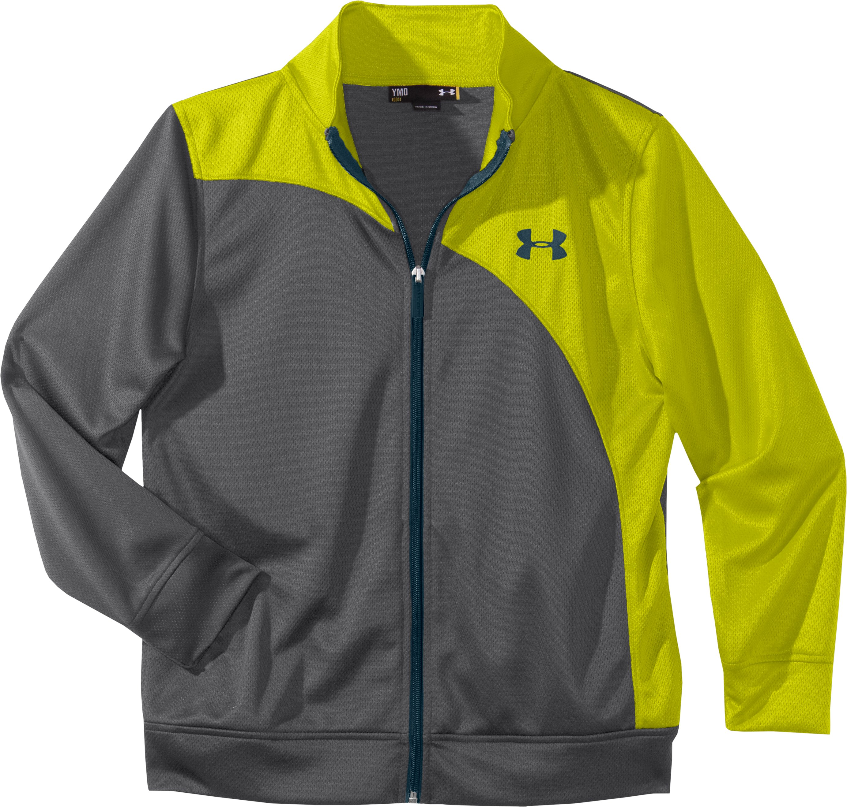 Boys' UA Chaos Jacket, Graphite, Laydown