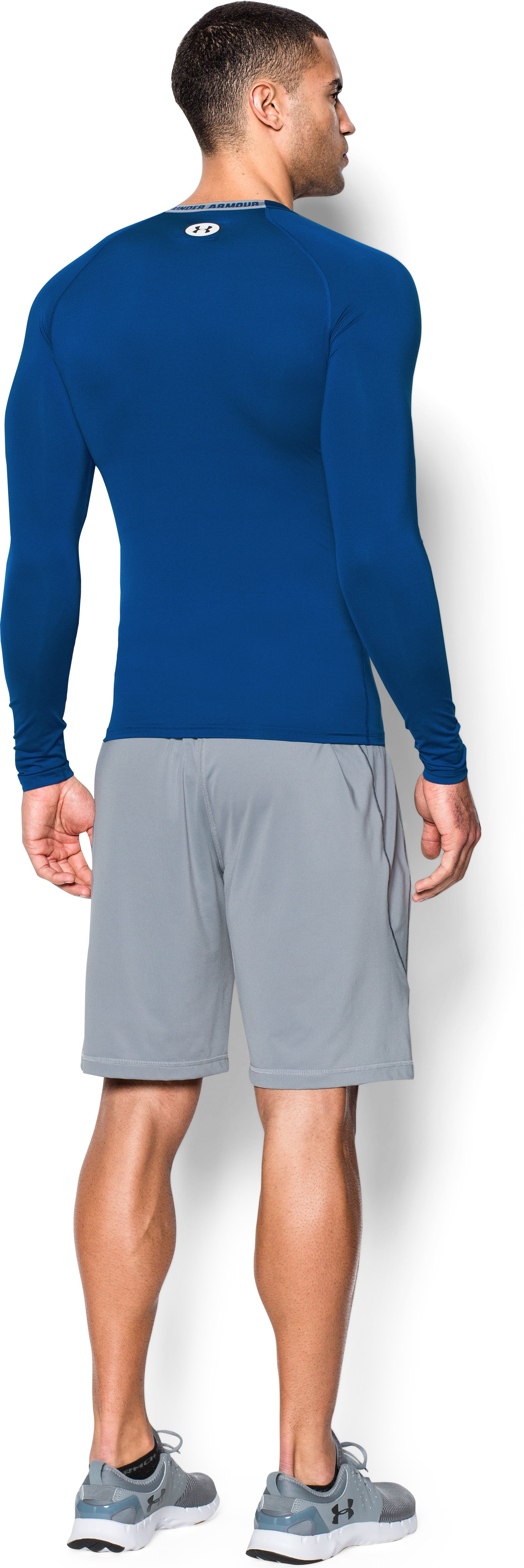 Men's HeatGear® Sonic Compression Long Sleeve, Royal, Back