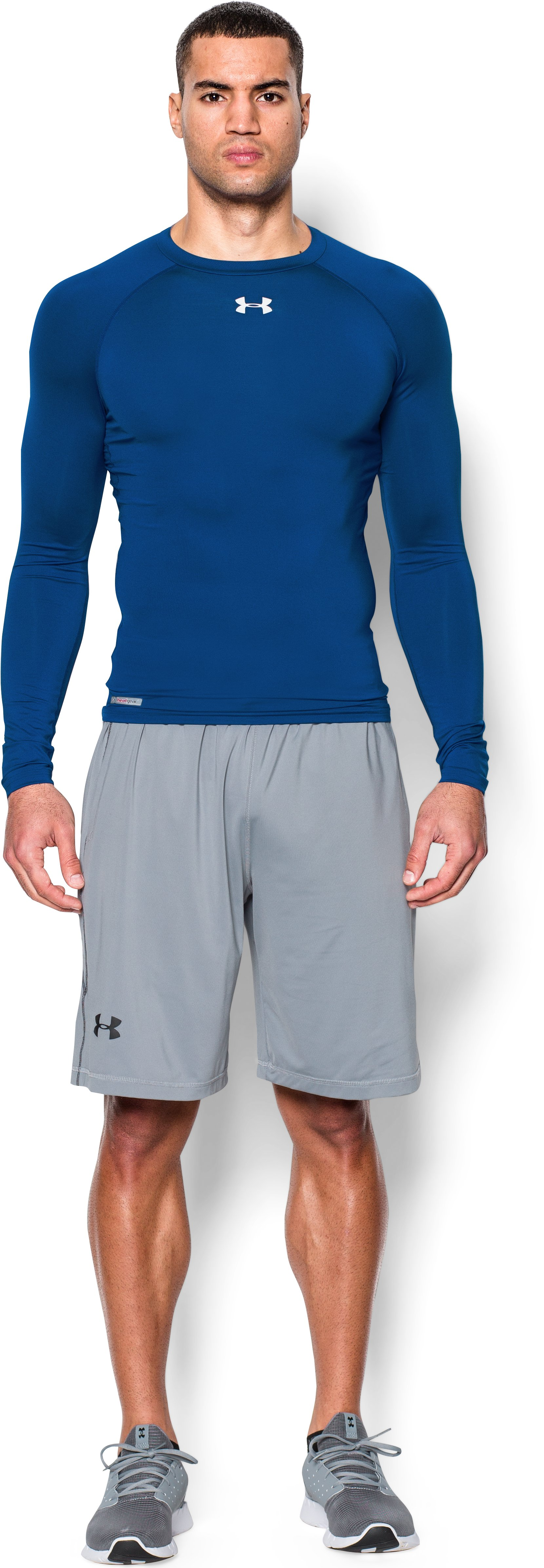 Men's HeatGear® Sonic Compression Long Sleeve, Royal