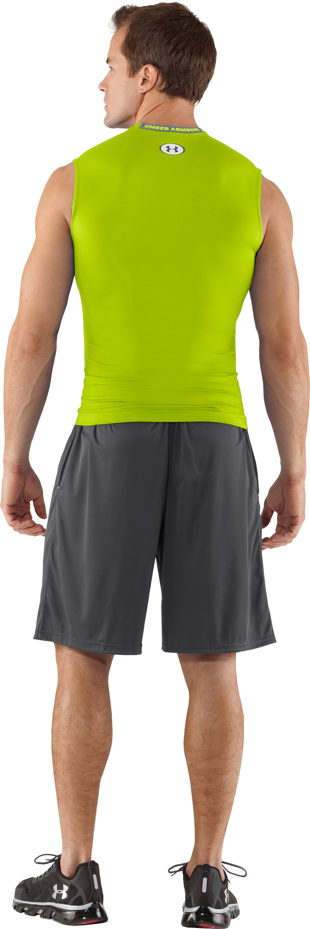 Men's HeatGear® Sonic Compression Sleeveless, Velocity, Back