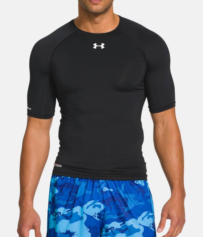 Men s heatgear sonic compression half sleeve under for Under armour half sleeve shirt