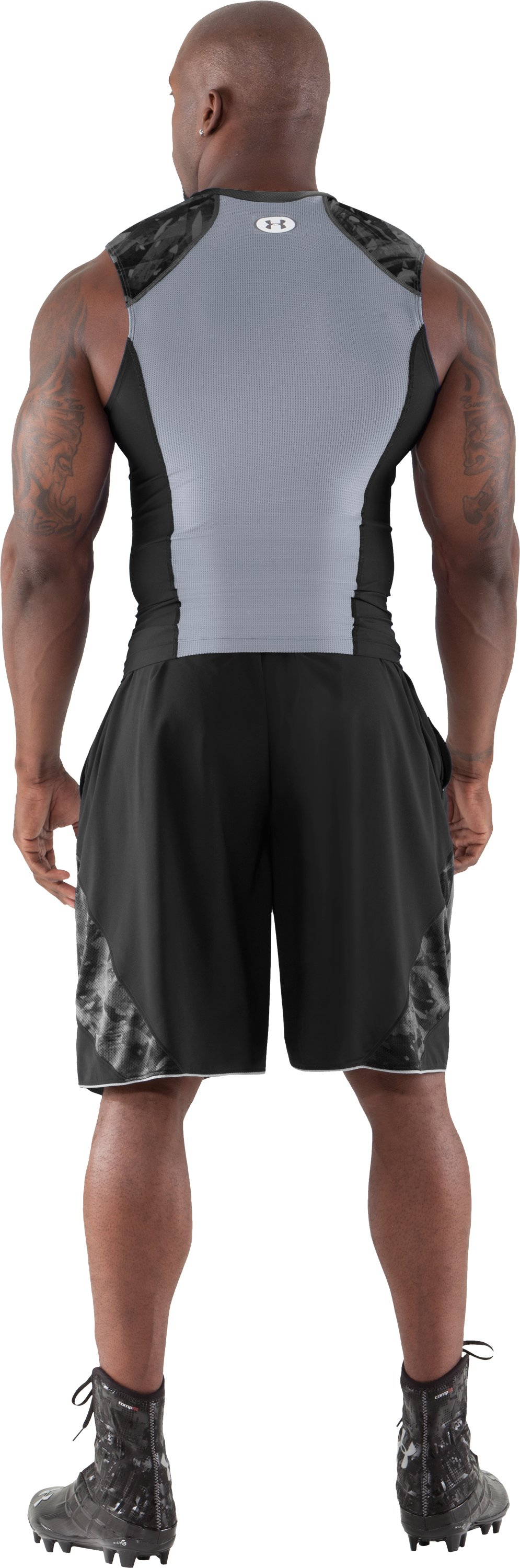 Men's NFL Combine Authentic Compression Sleeveless, Black , Back