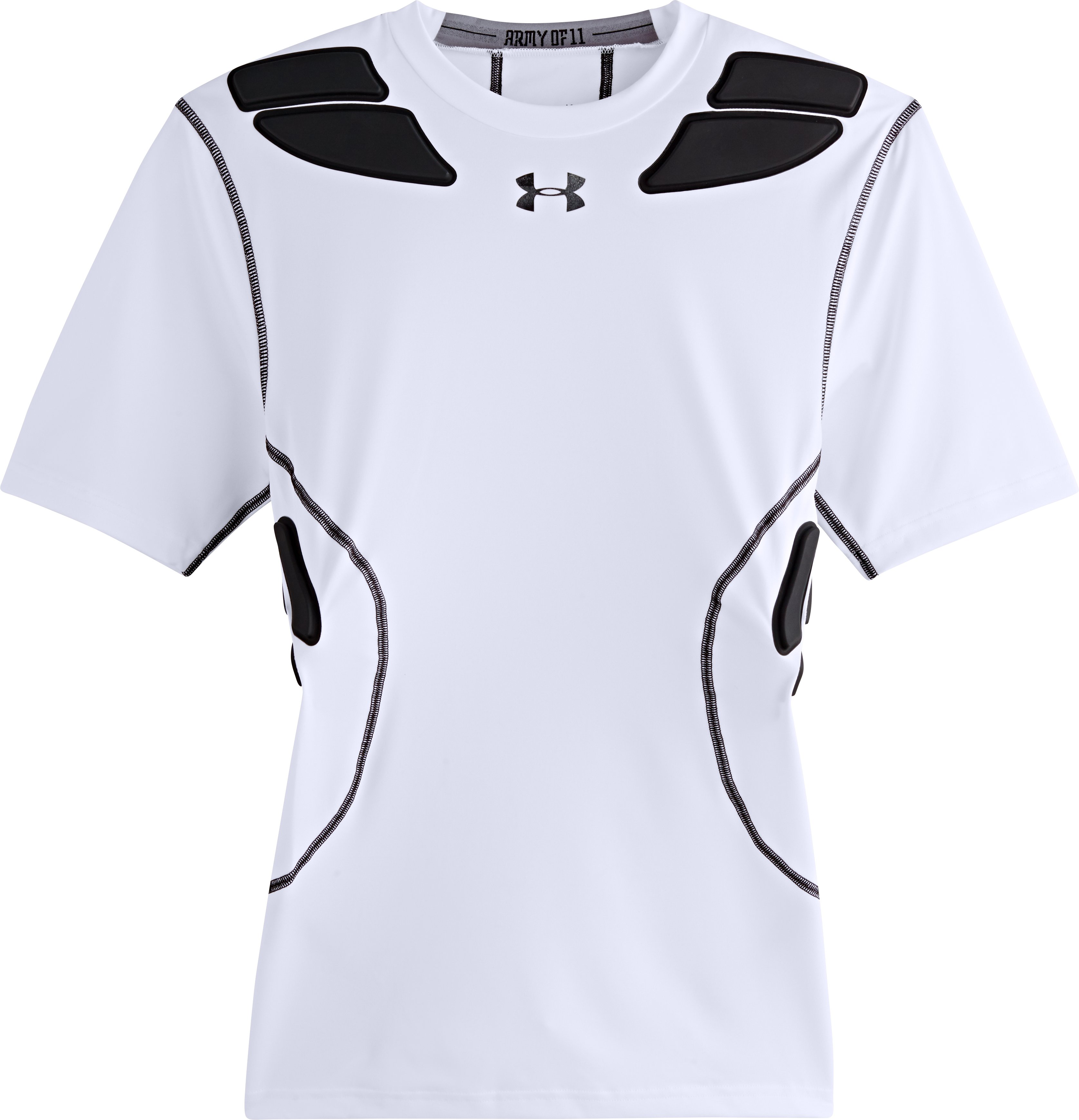 Men's Gameday Armour® Short Sleeve Baselayer, White, Laydown