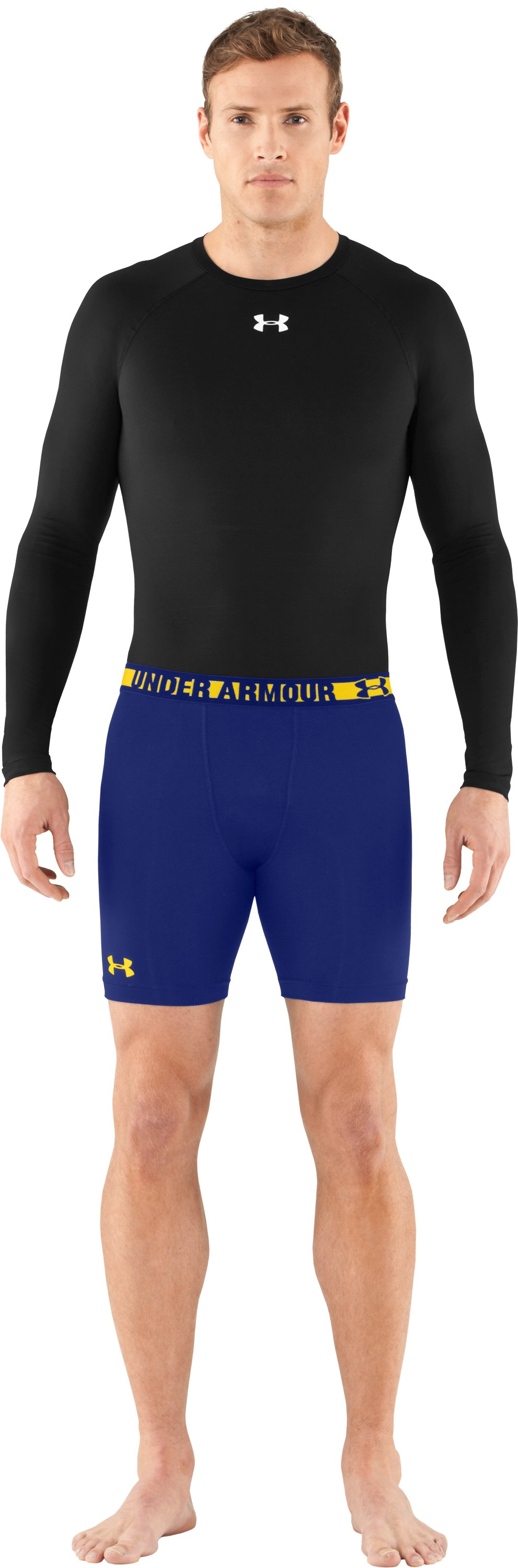 Men's HeatGear® Sonic Compression Shorts, Royal, Front