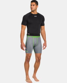 Men's HeatGear® Sonic Printed Compression Shorts