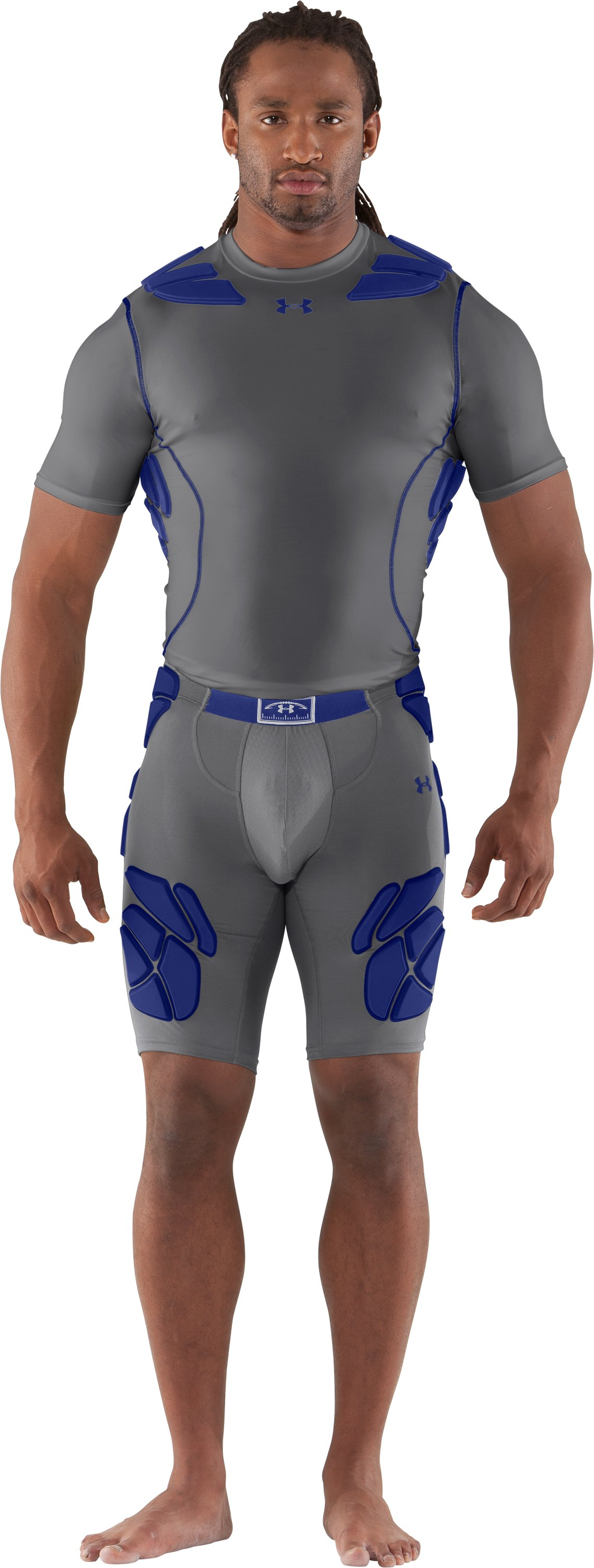 Men's Gameday Armour® Girdle, Graphite, zoomed image
