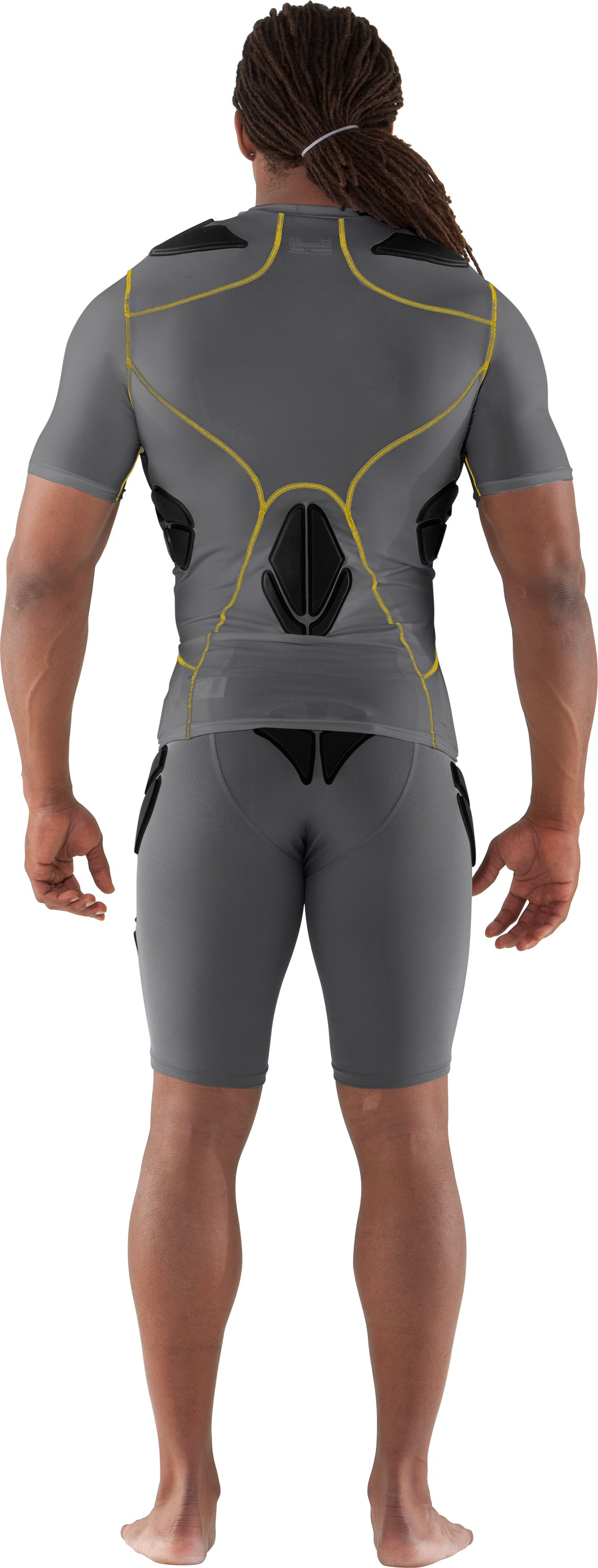 Men's Gameday Armour® Girdle, Graphite, Back
