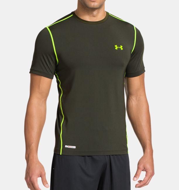 Men s heatgear sonic fitted short sleeve under armour us for Under armour men s heatgear sonic fitted t shirt