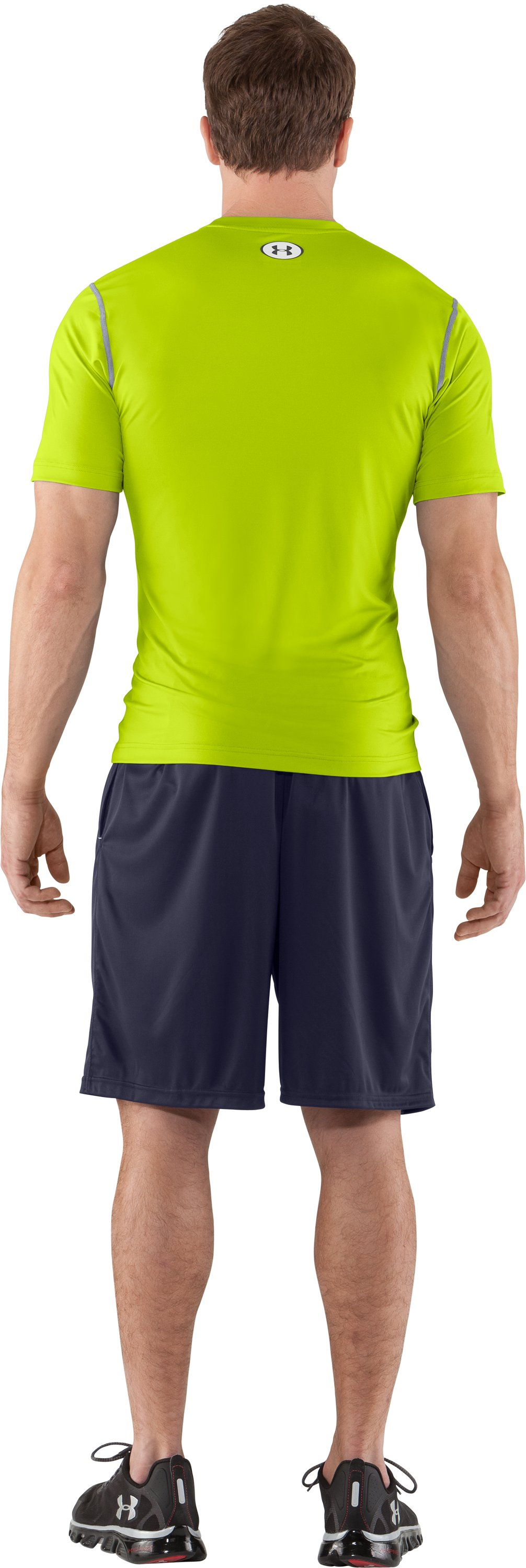 Men's HeatGear® Sonic Fitted Short Sleeve, Velocity, Back