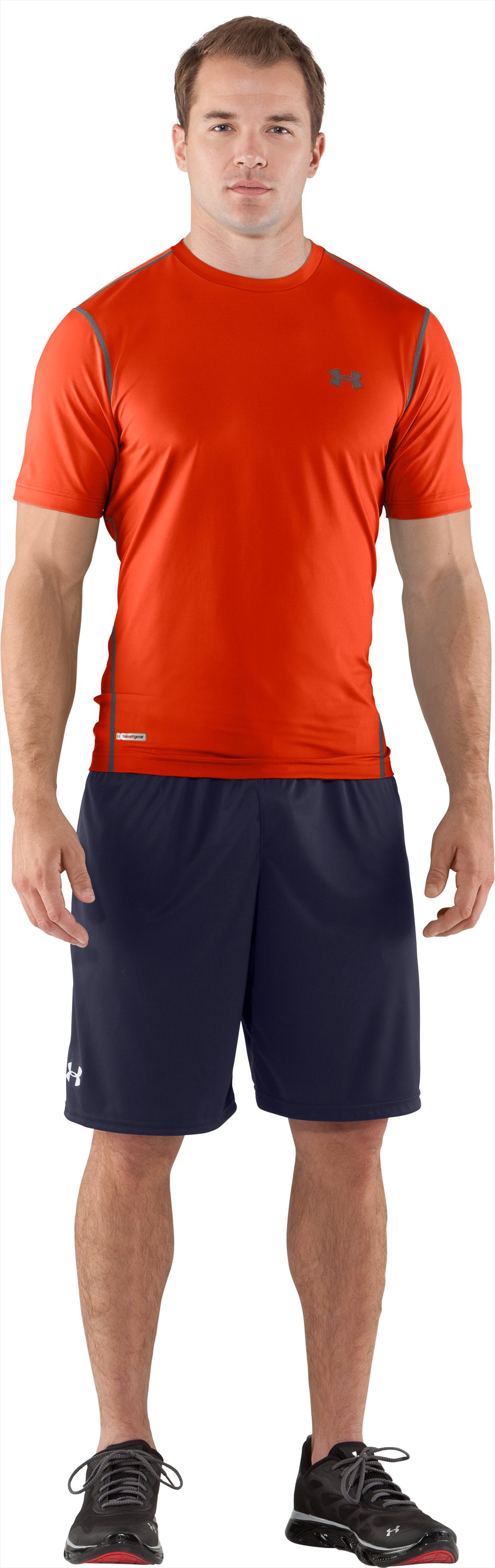 Men's HeatGear® Sonic Fitted Short Sleeve, Explosive