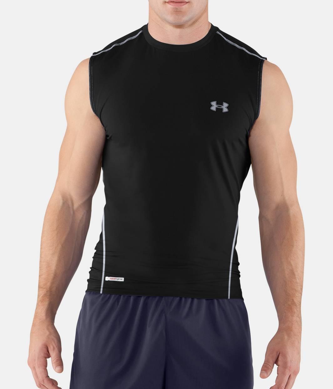 Men s heatgear sonic fitted sleeveless under armour us for Under armour men s heatgear sonic fitted t shirt