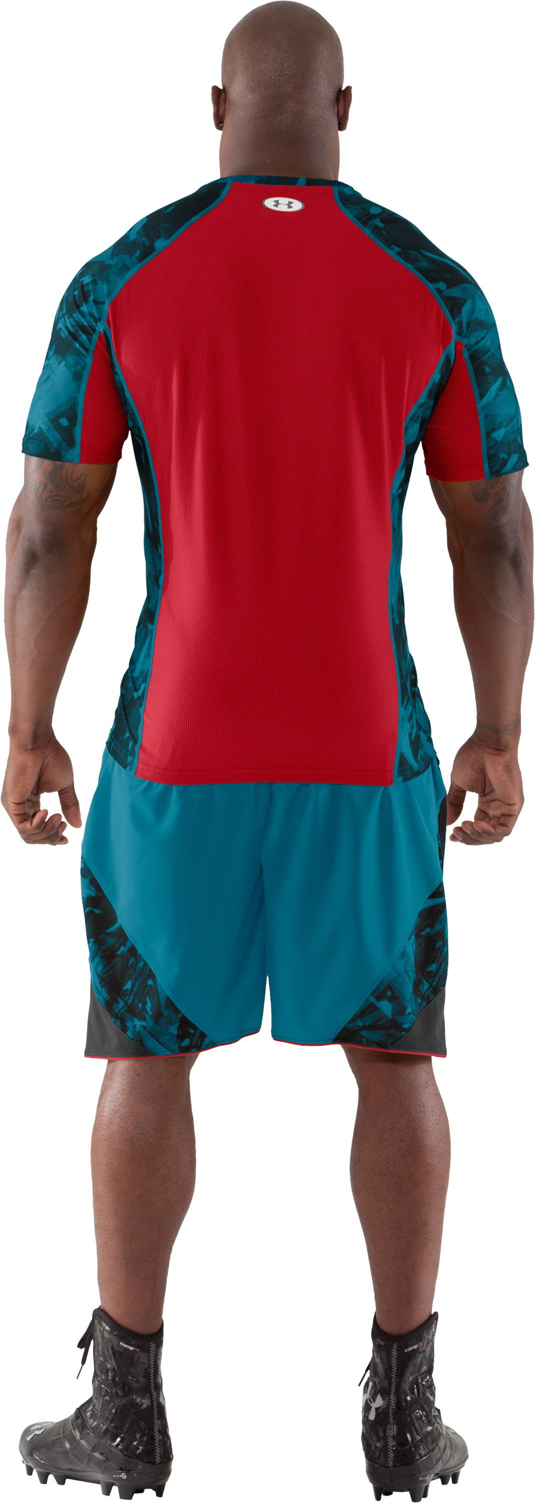 Men's NFL Combine Authentic Fitted Short Sleeve, Capri, Back