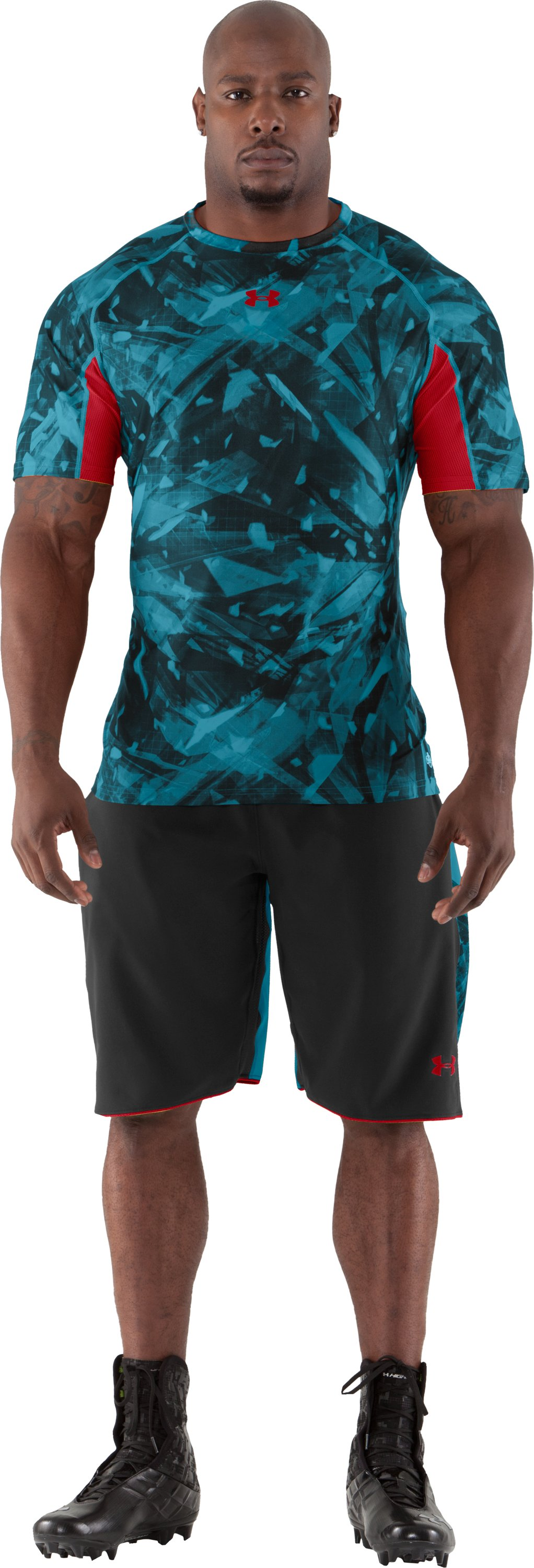 Men's NFL Combine Authentic Fitted Short Sleeve, Capri, Front