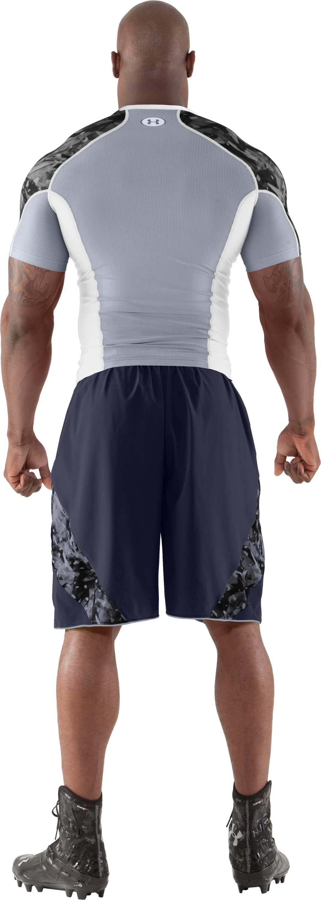 Men's NFL Combine Authentic Shorts, Midnight Navy, Back