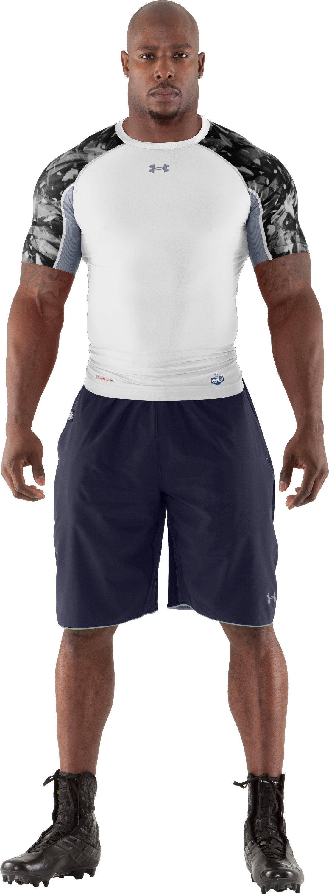 Men's NFL Combine Authentic Shorts, Midnight Navy, Front