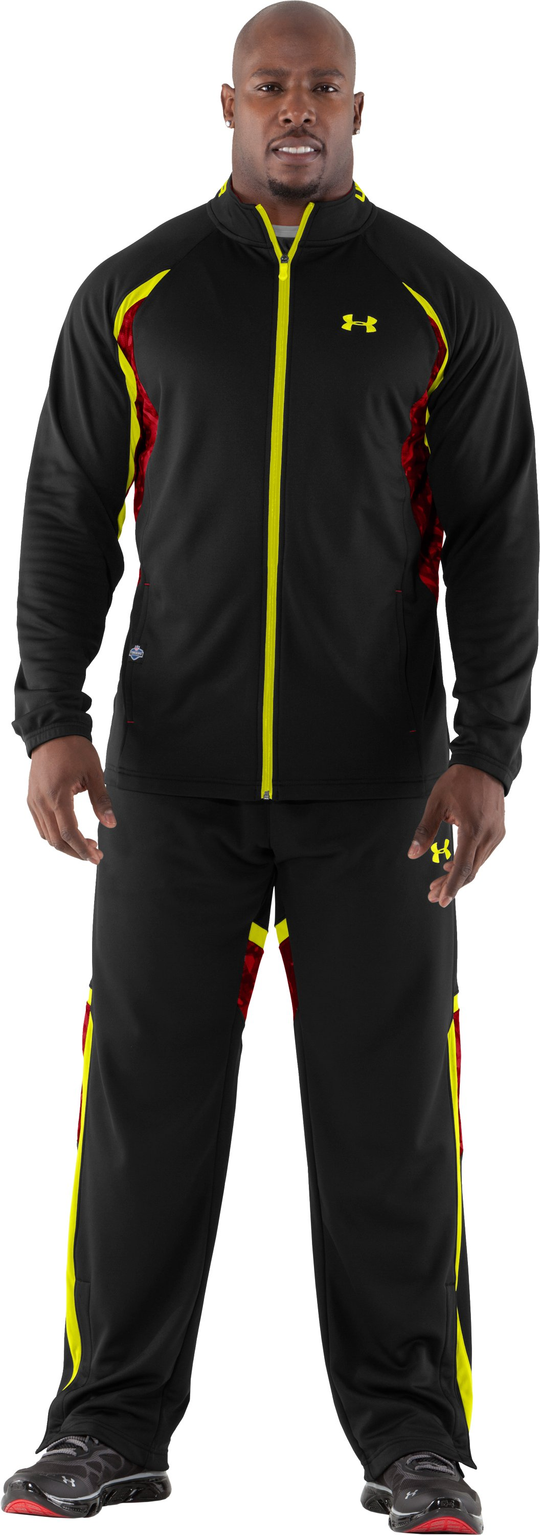 Men's NFL Combine Authentic Warm-Up Jacket, Black , zoomed image