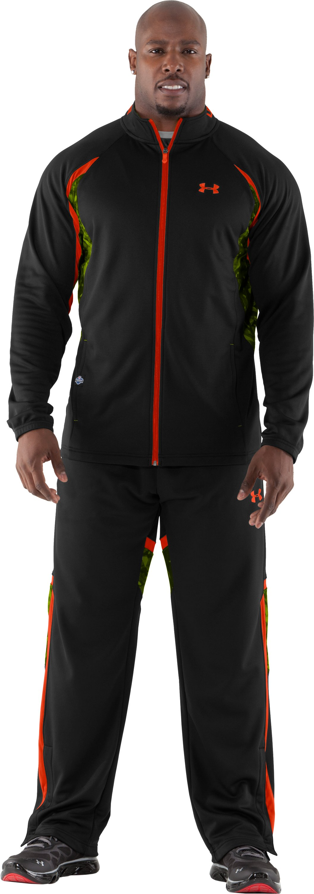 Men's NFL Combine Authentic Warm-Up Jacket, Black , Front
