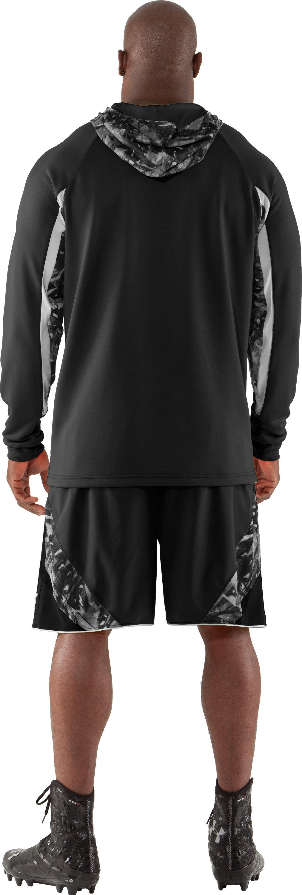 Men's NFL Combine Authentic Hoodie, Black , Back