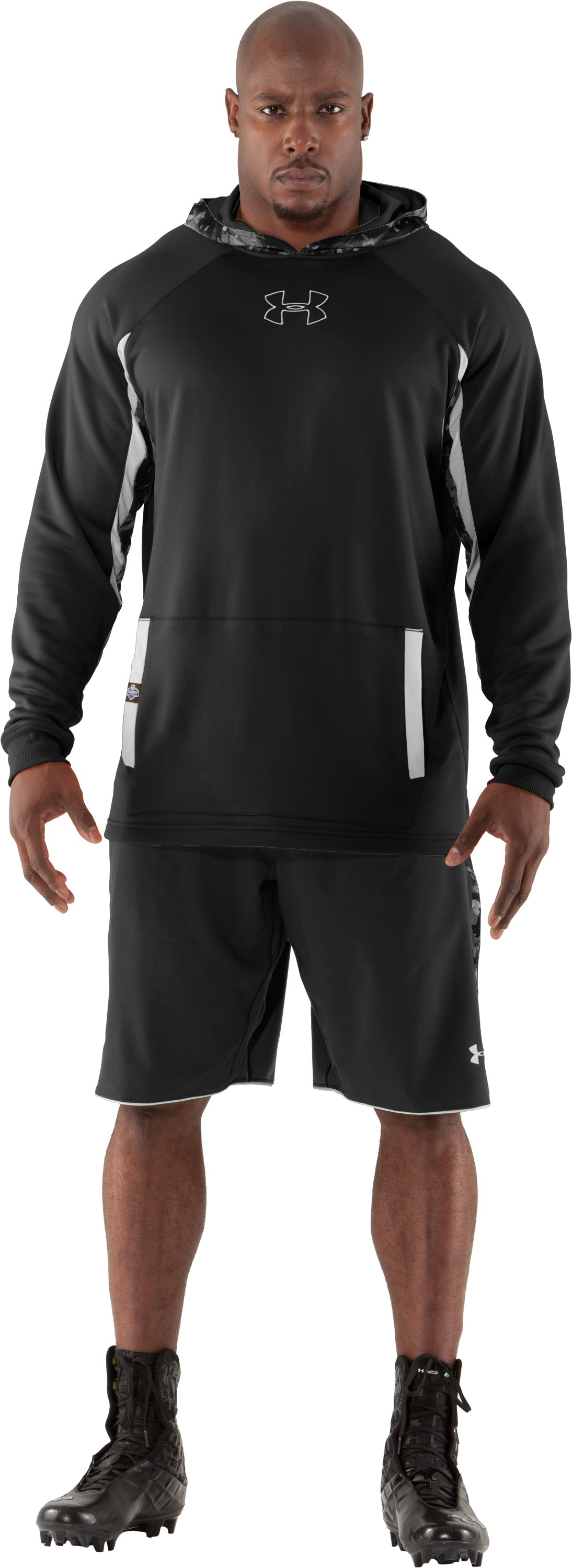 Men's NFL Combine Authentic Hoodie, Black , zoomed image