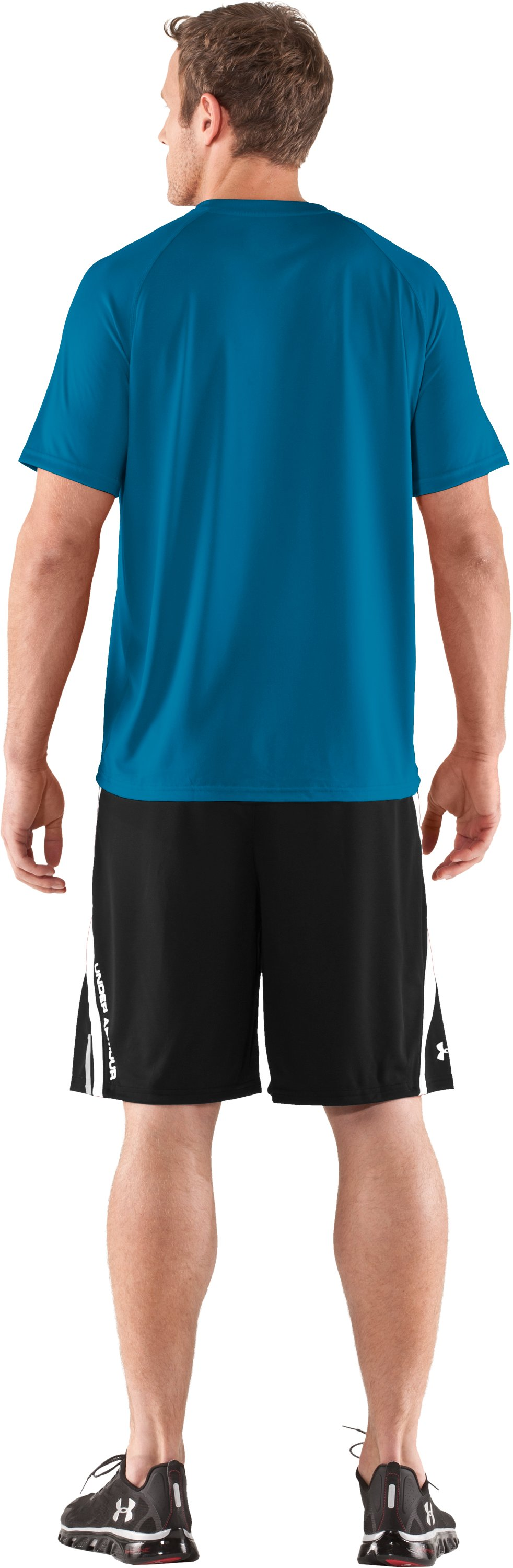 Men's UA Geo Logo T-Shirt, SNORKEL, Back