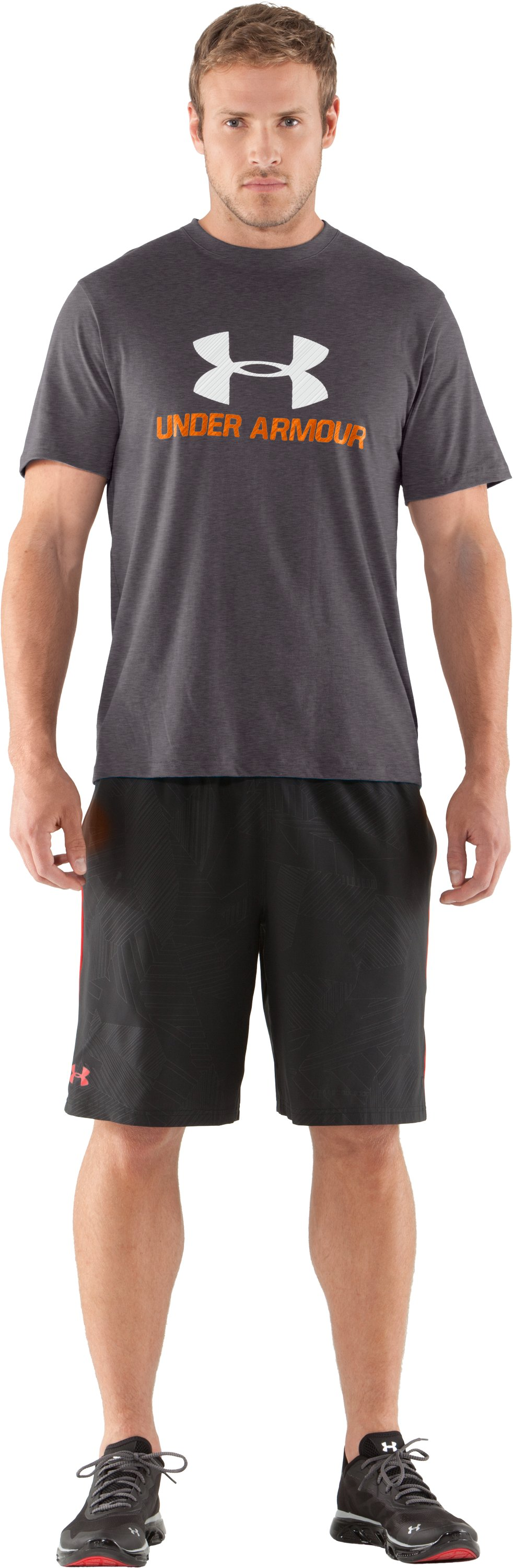 Men's UA Sportstyle III Logo T-Shirt, Carbon Heather, Front