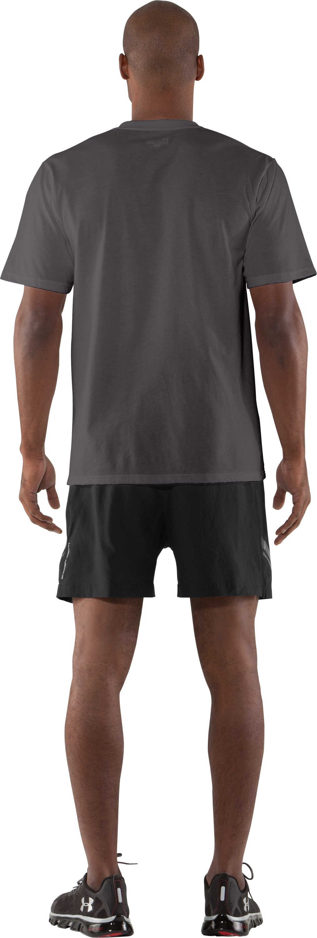 Men's UA Beat Your Demons T-Shirt, Charcoal, Back