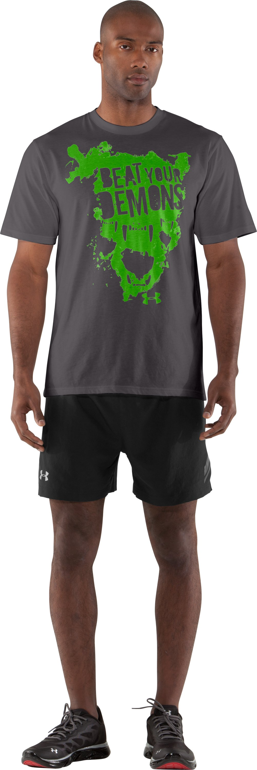 Men's UA Beat Your Demons T-Shirt, Charcoal, zoomed image